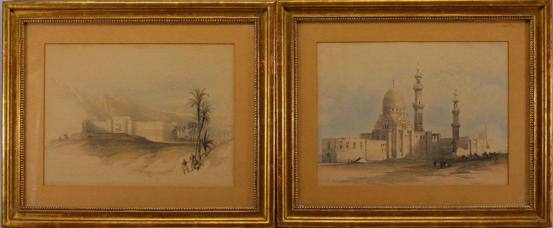 (2) David Roberts (1796 - 1864) Orientalist Engravings