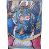 Monumental De Koonig Style Abstract Painting