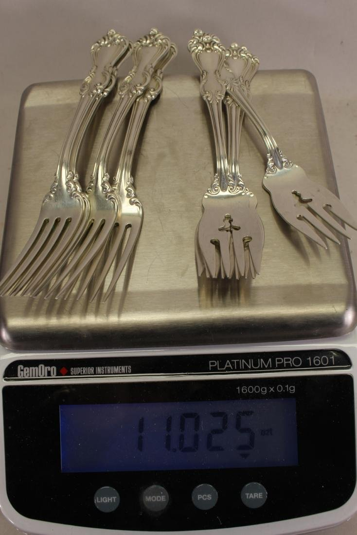 (8) Sterling Silver Reed & Barton Forks - 4
