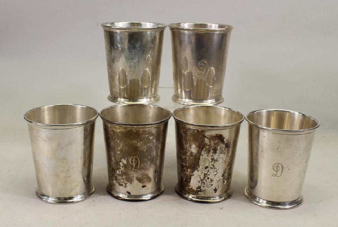 (6) Kirk & Sons Monogrammed Sterling Silver Cups