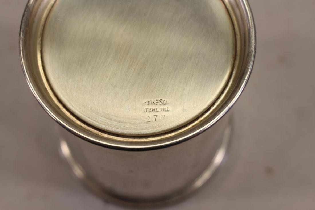 (6) Kirk & Sons Monogrammed Sterling Silver Cups - 6