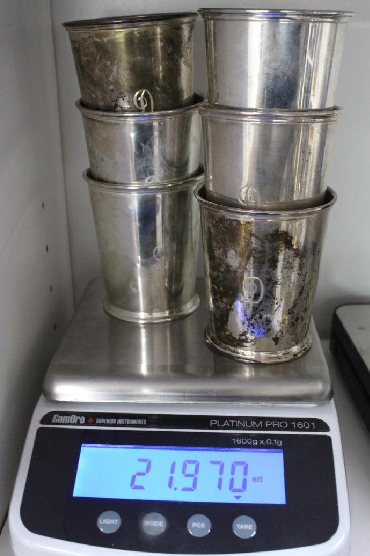 (6) Kirk & Sons Monogrammed Sterling Silver Cups - 7
