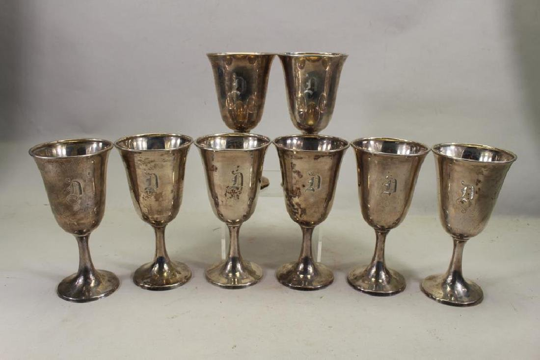(8) Monogrammed Kirk & Sons Sterling Silver Cups