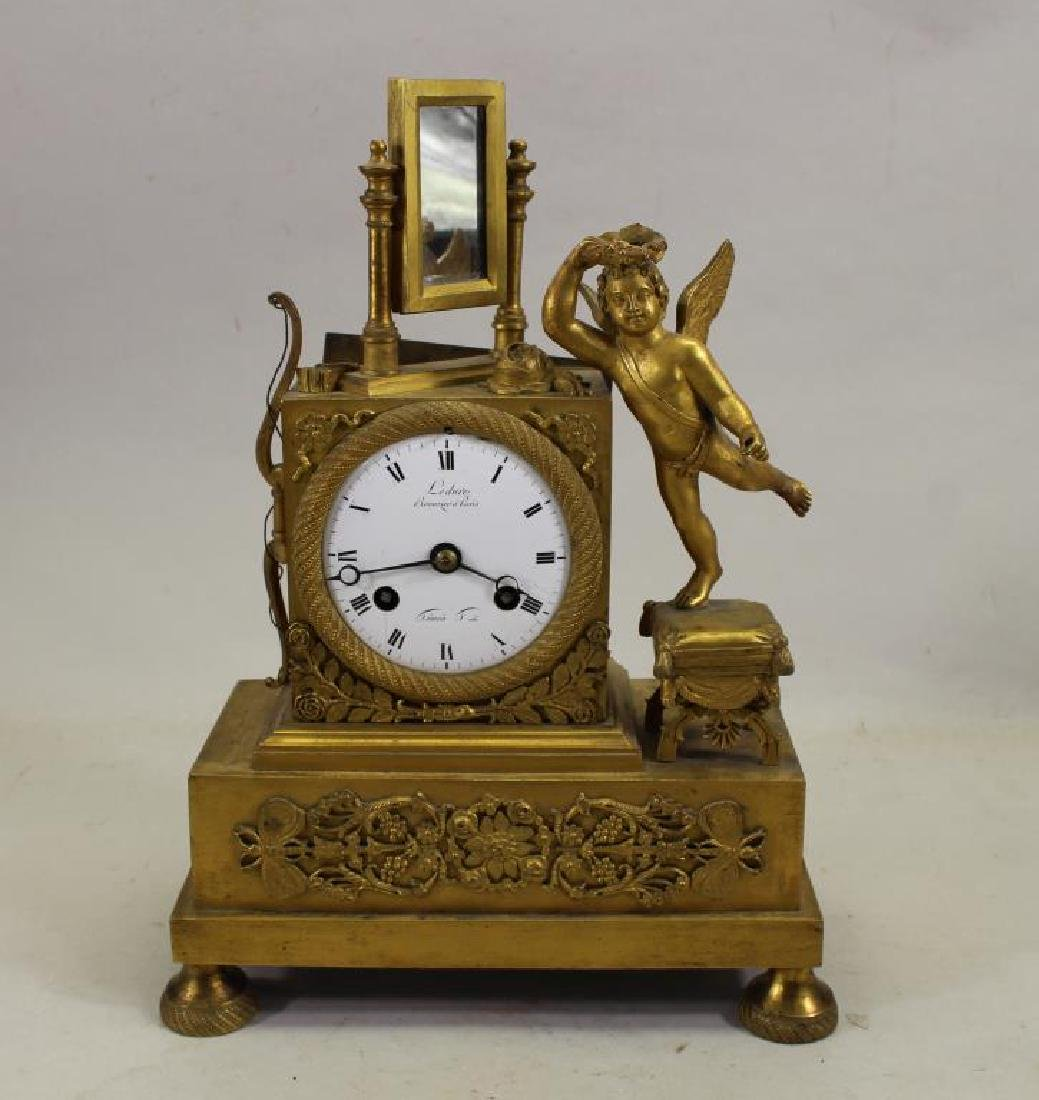 Antique French Gilt Cherubic Clock