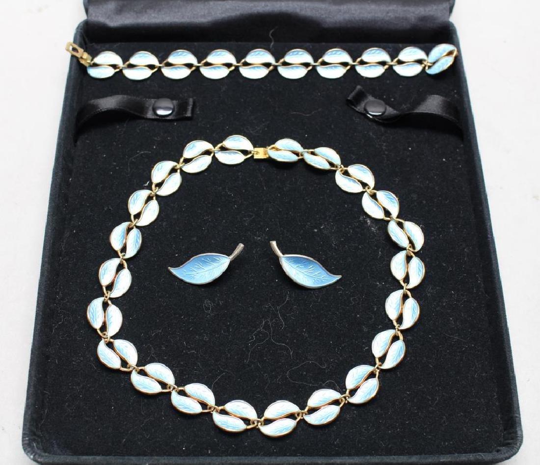 David-Anderson Sterling & Enamel Jewelry Set