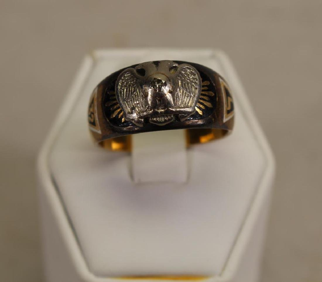 Double Headed Eagle 14k Gold Ring