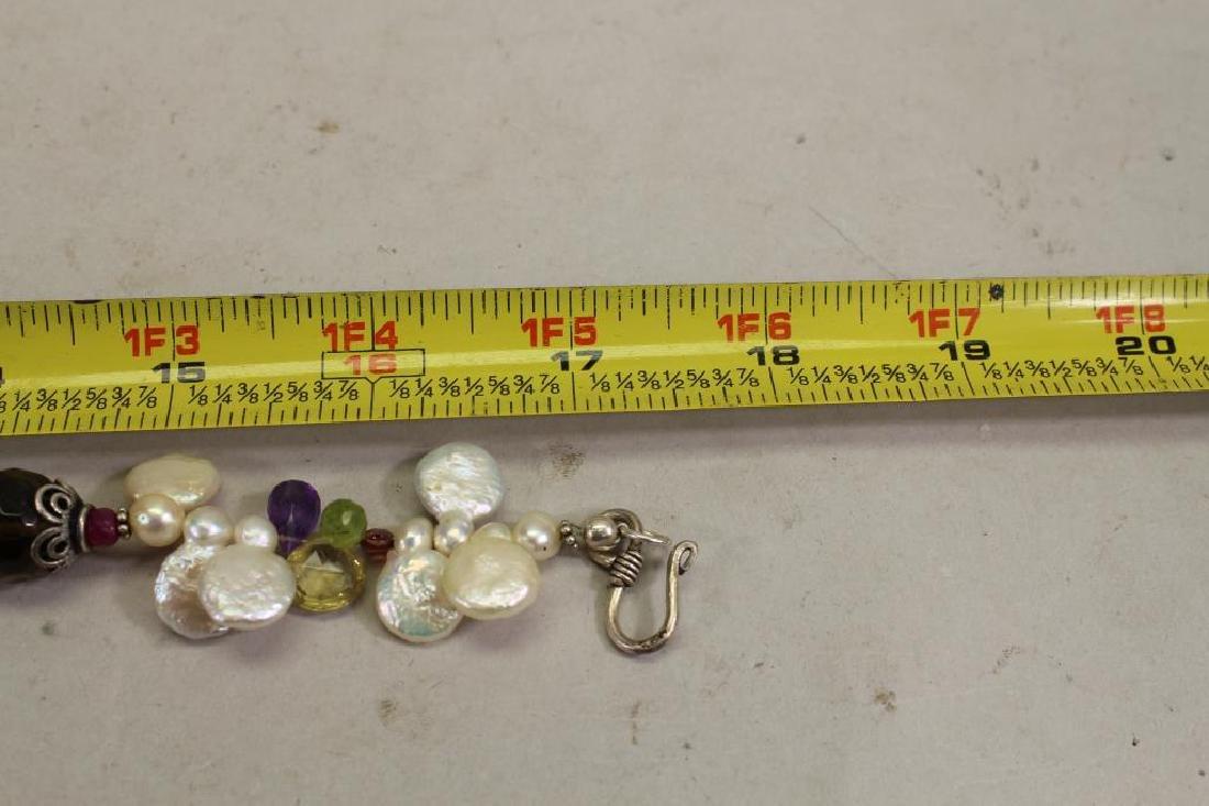 Semi Precious Stone & Sterling Necklace - 5