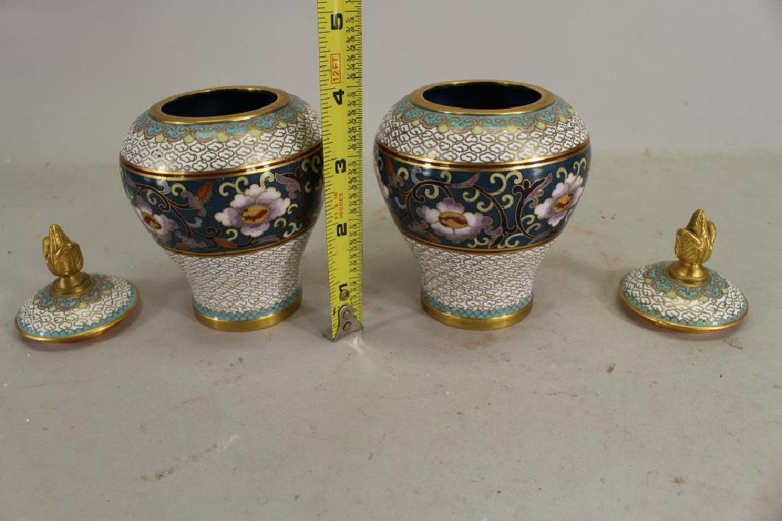 Chinese Cloisonne Covered Jars - 2