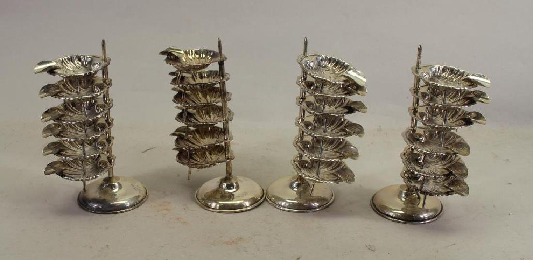 (4) Mexican Sterling Cigarette Ashtray Stands