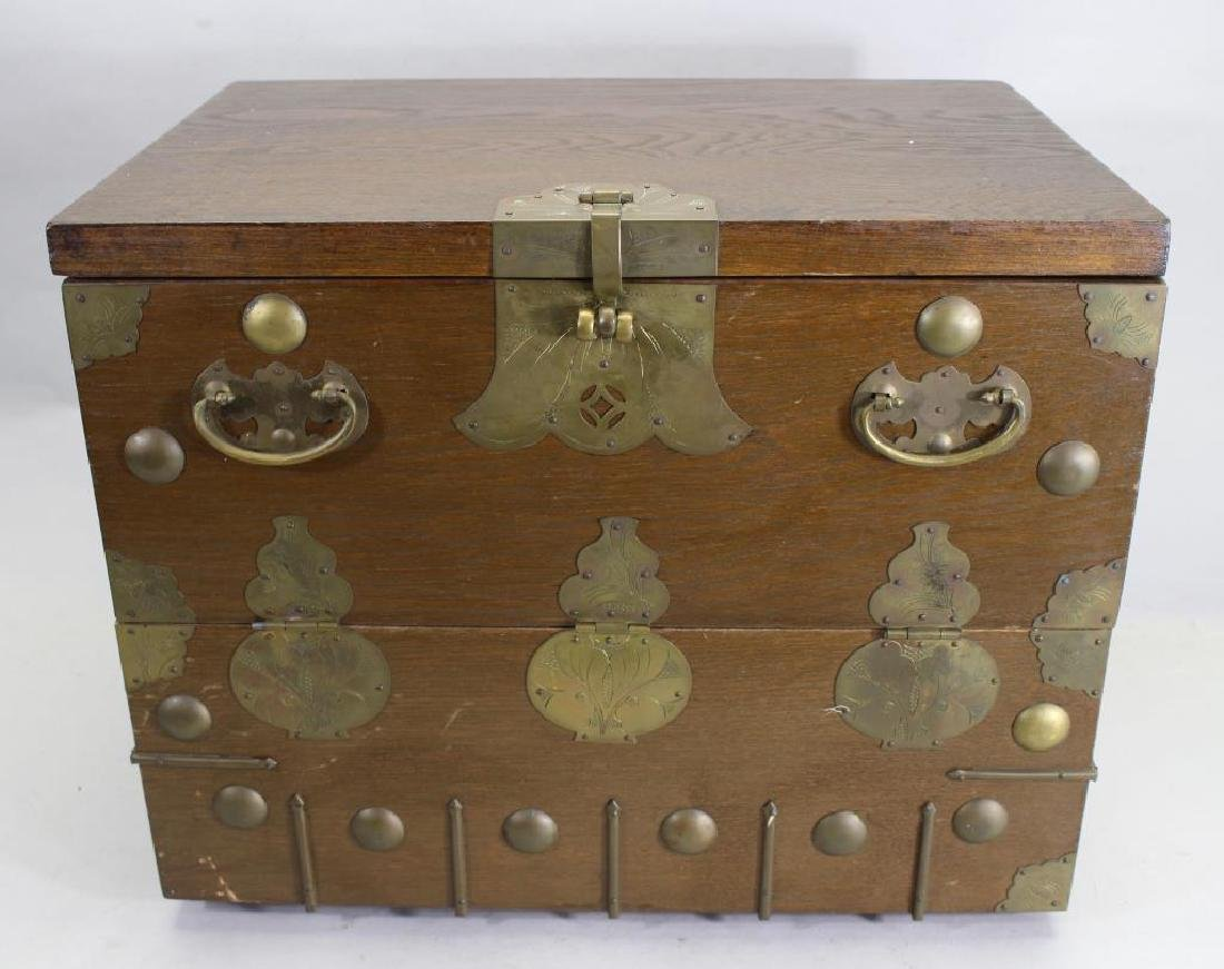 Small Korean Chest with Brass Mounts