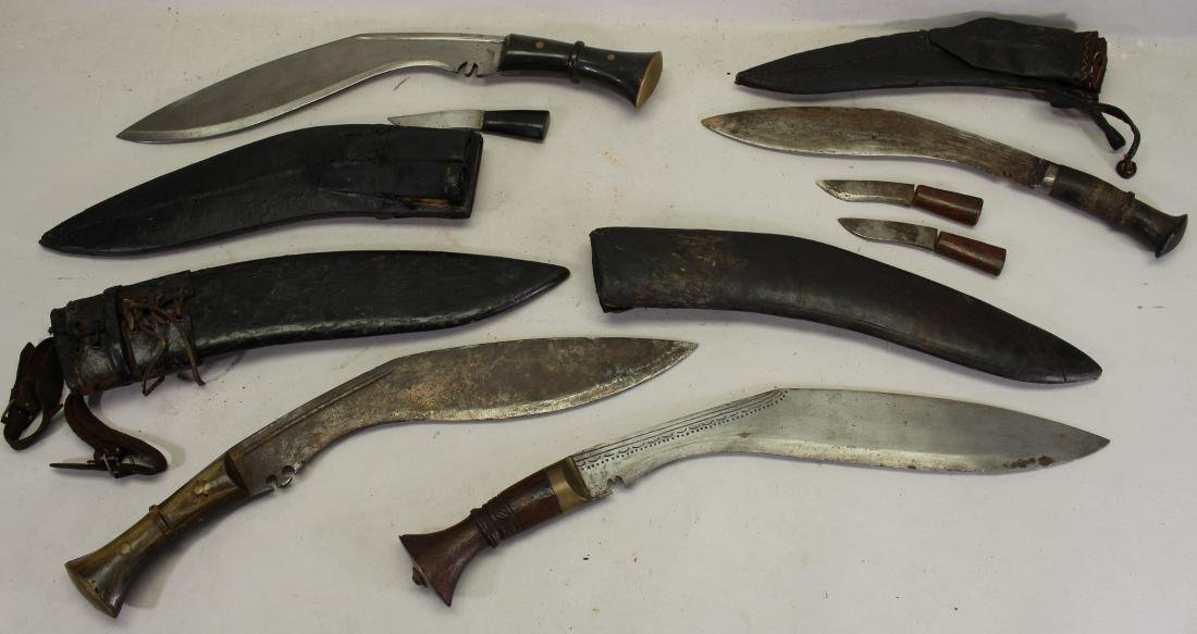 (4) Vintage Knives with Sheath - 3