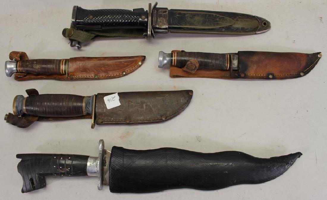 (5) Assorted Knives w/ Sheath