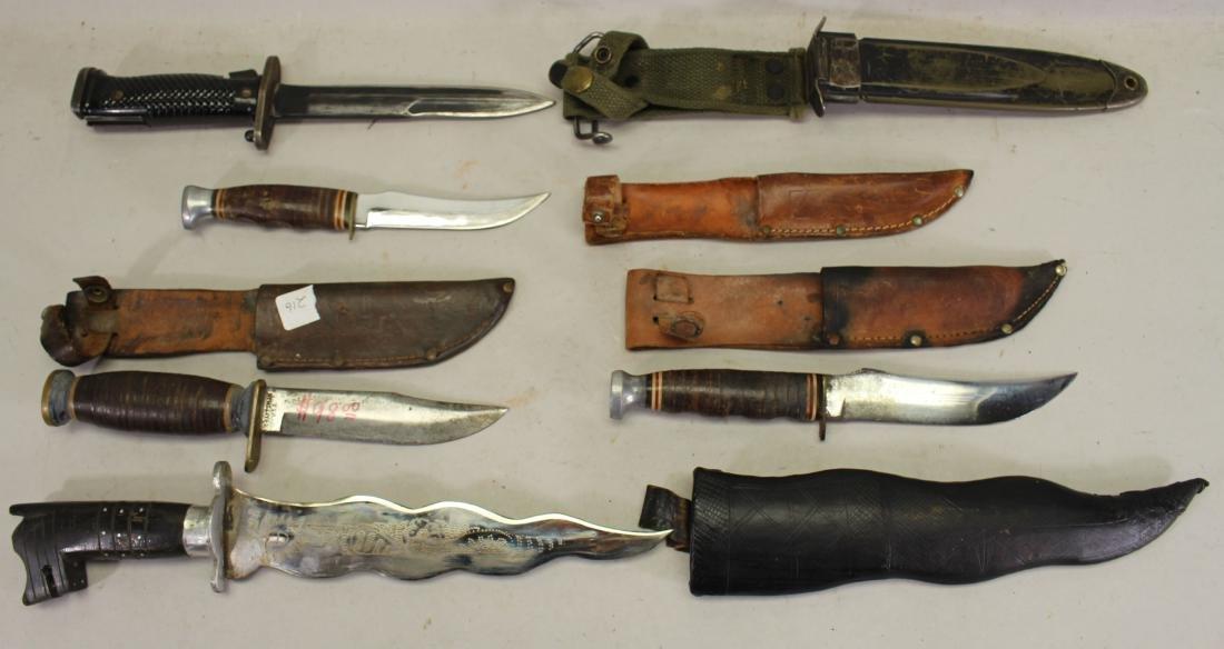 (5) Assorted Knives w/ Sheath - 2
