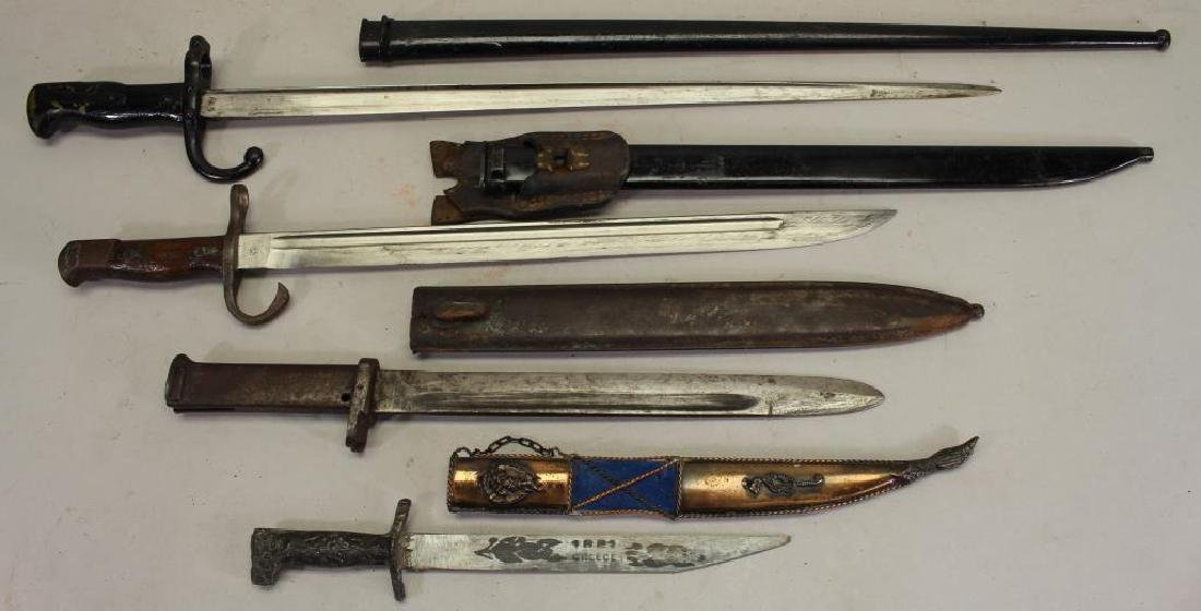 Collection of (4) Knives w/ Sheath - 2