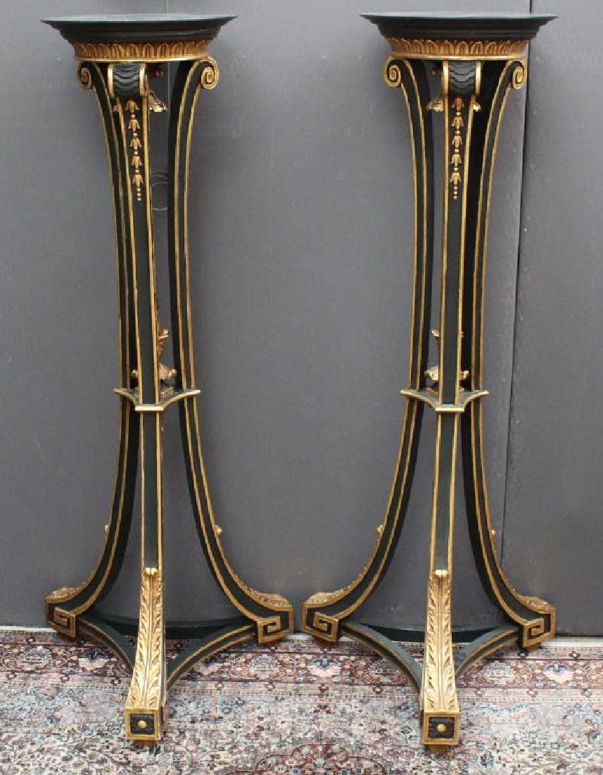 Pair, Gilt/Wood Plant Stands