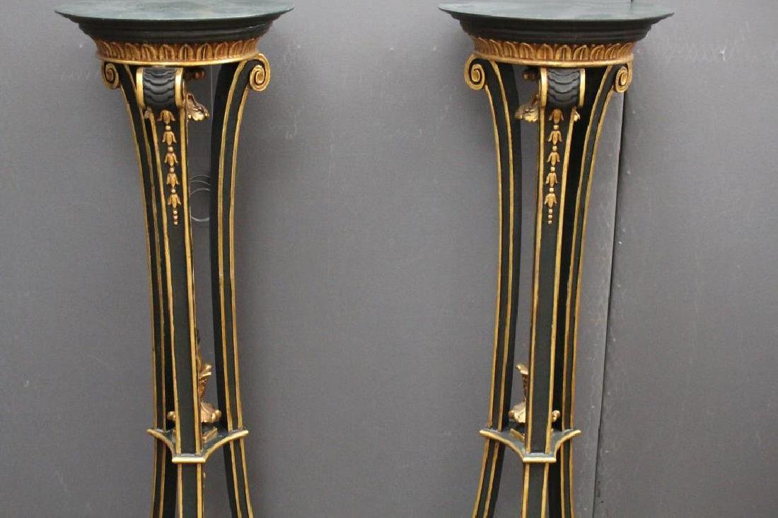 Pair, Gilt/Wood Plant Stands - 2