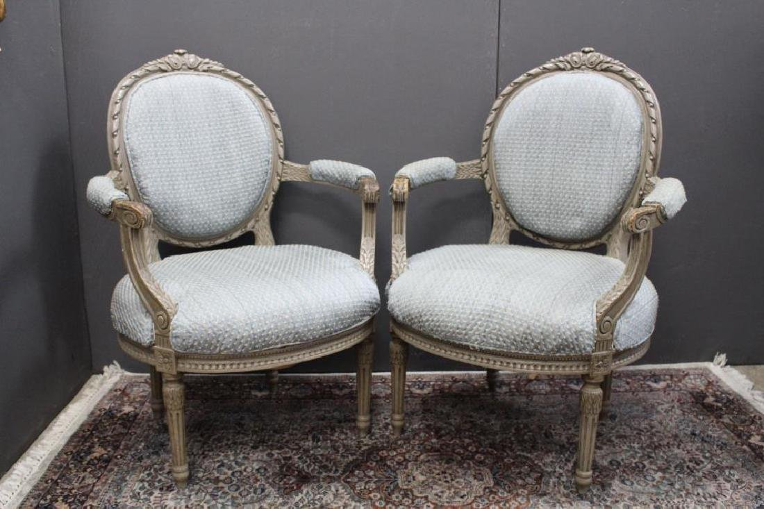 (2) Upholstered Armchairs