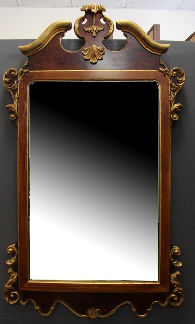 American Gilt/Mahogany Mirror