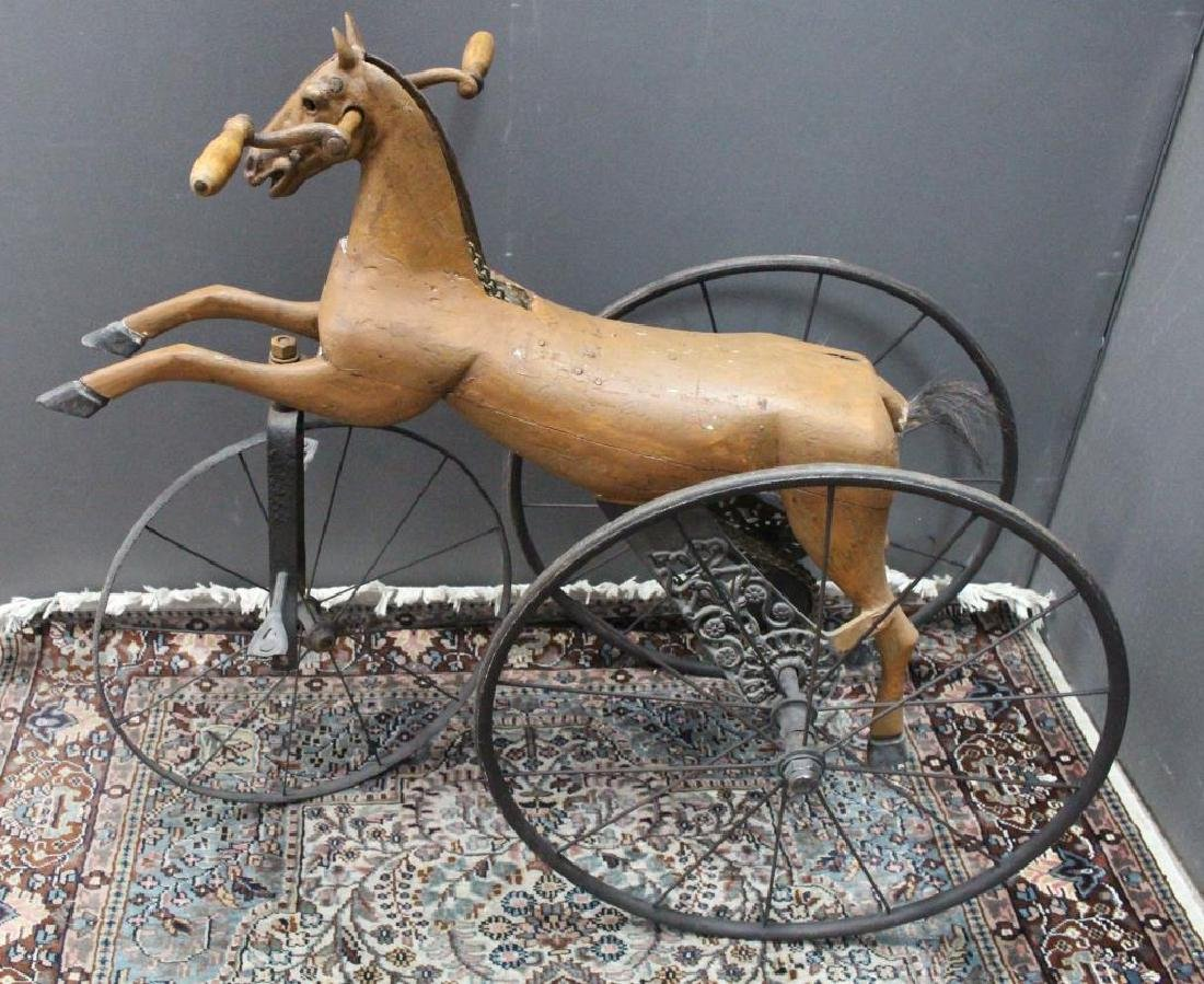 American, Folk Art Child's Horse Tricycle
