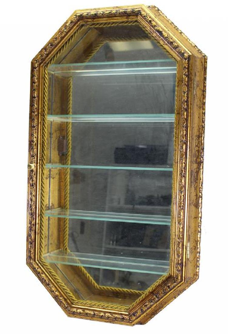 Vintage Gilt Mirrored Wall Shelf