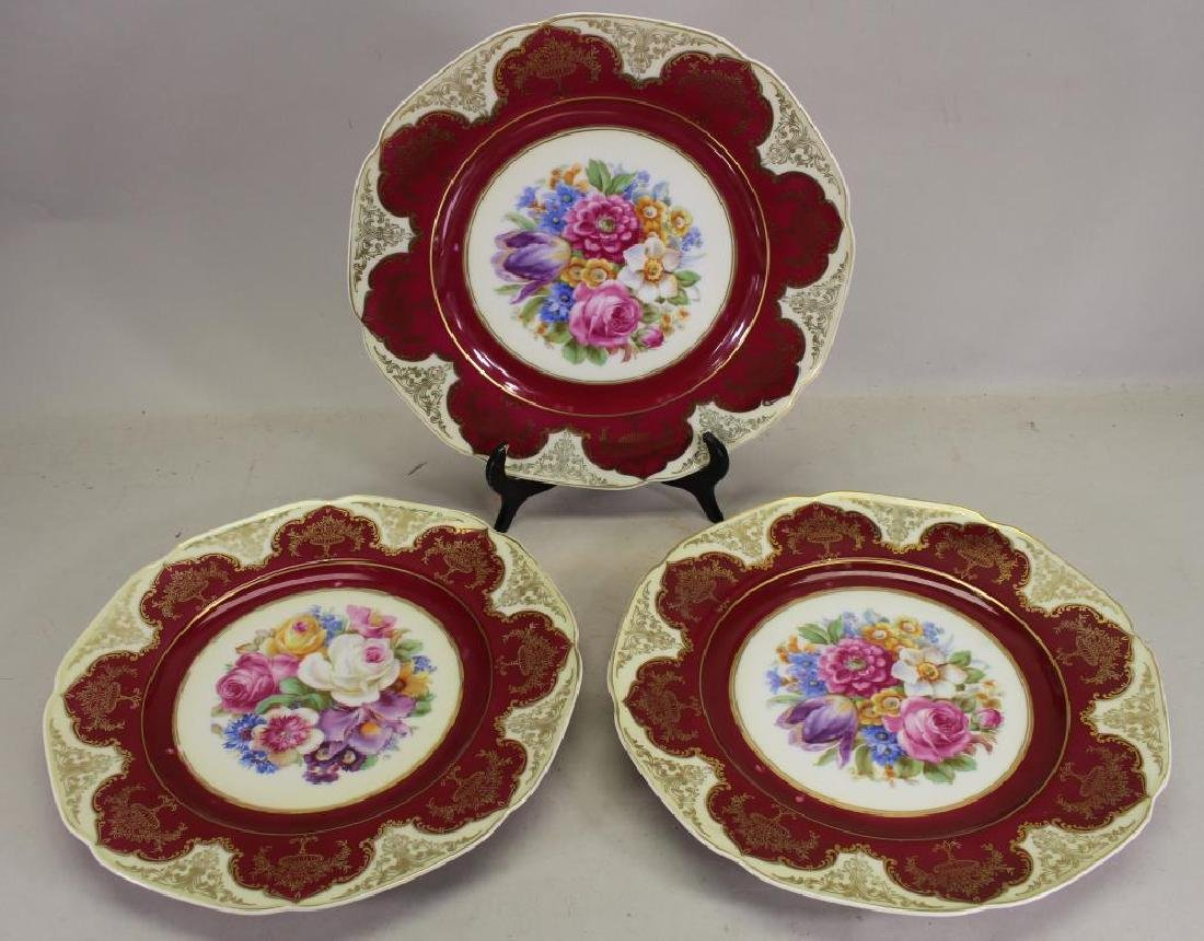 (3) Bavaria Porcelain Plates