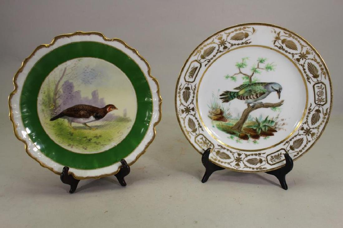 (2) Signed Porcelain Bird Dishes