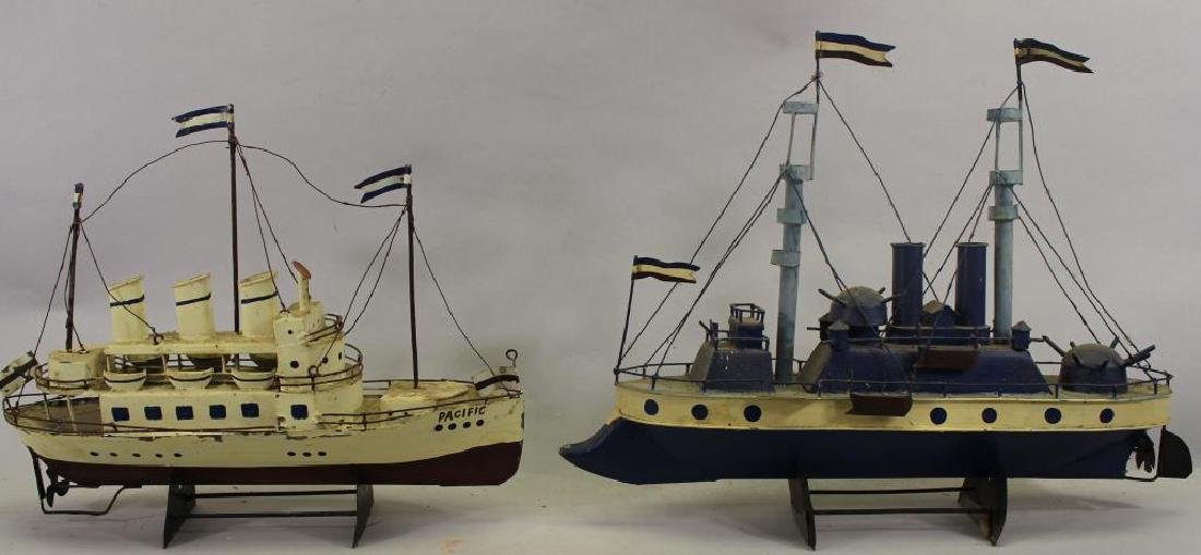 (2) Ship Models on Stand