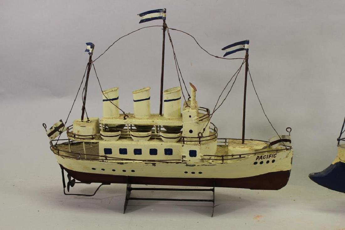 (2) Ship Models on Stand - 2