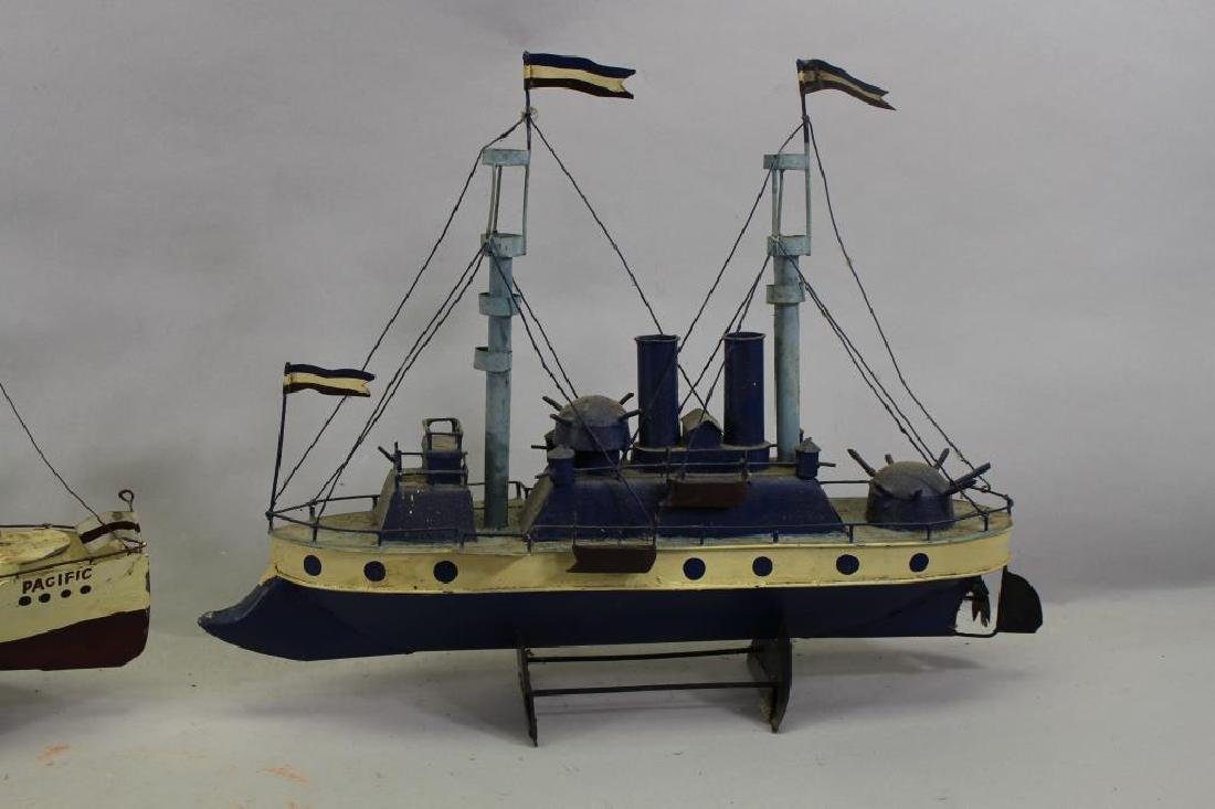 (2) Ship Models on Stand - 3