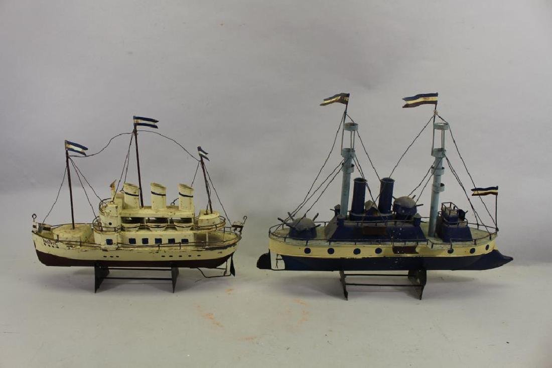 (2) Ship Models on Stand - 4