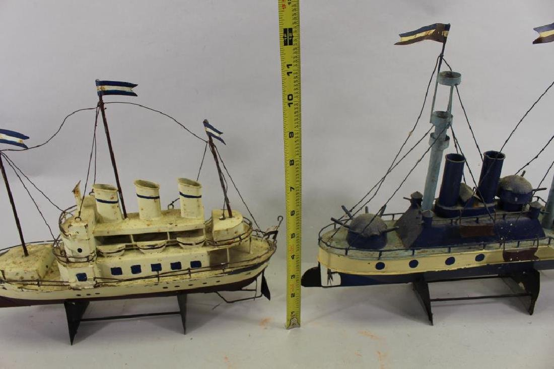 (2) Ship Models on Stand - 5