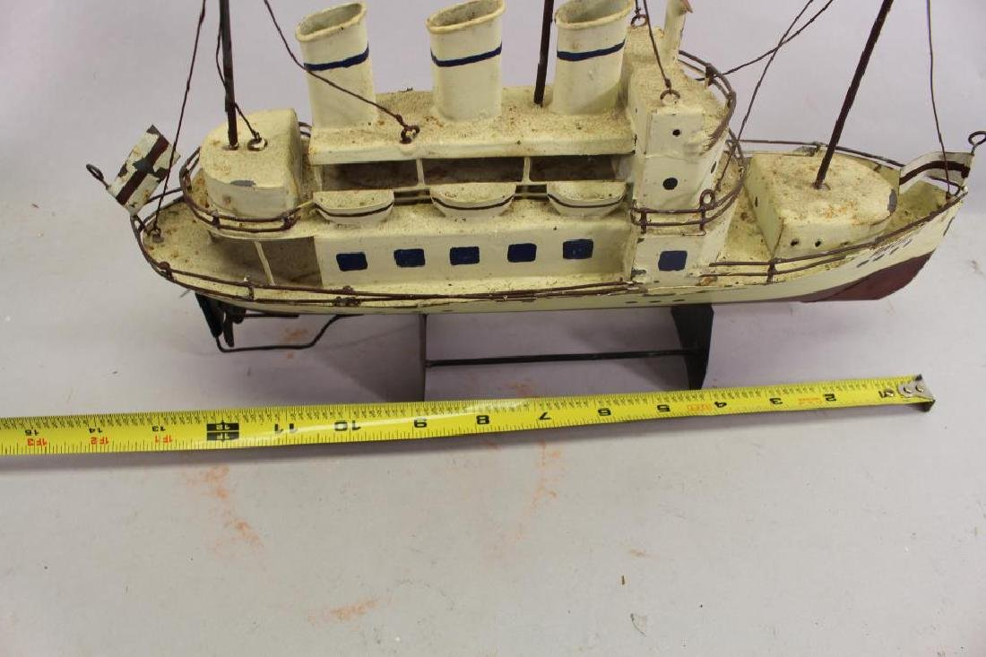 (2) Ship Models on Stand - 7
