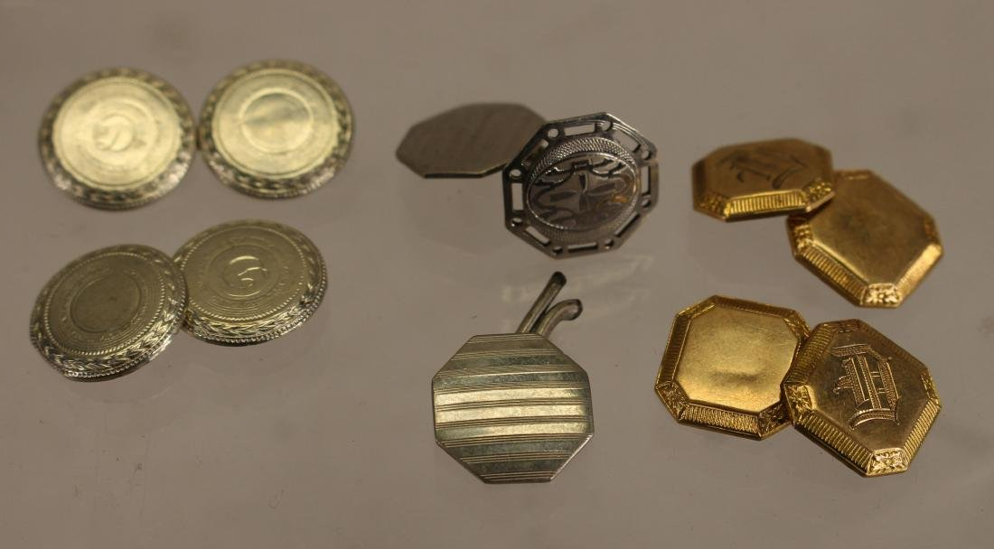 (6) Silver/Gold Cuff Links