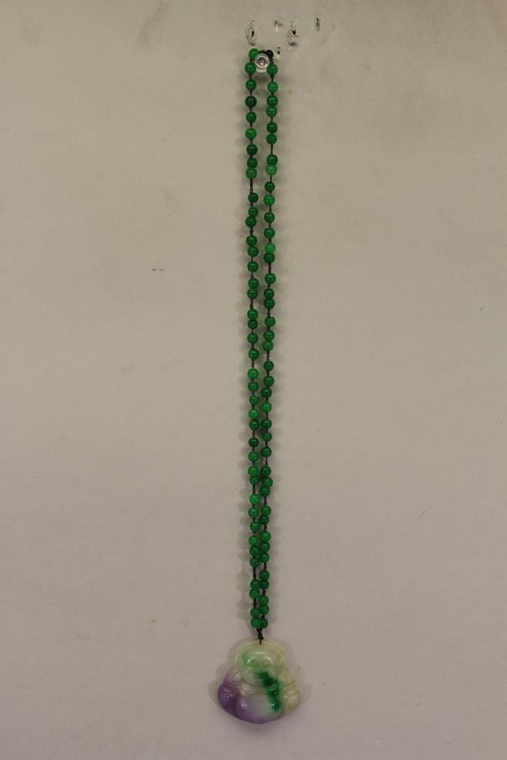 Chinese Necklace, Smiling Buddha Pendant