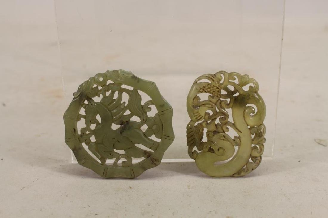 (2) Chinese Carved/Reticulated Pendants