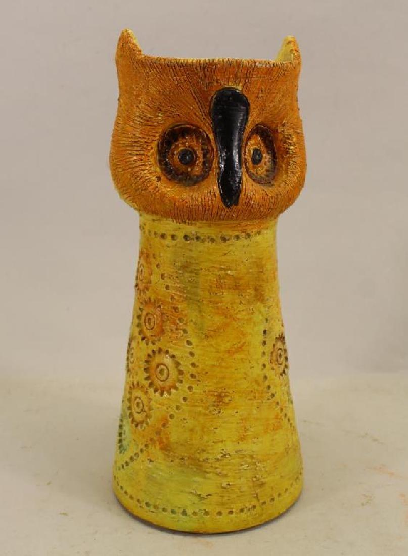 Vintage Owl Form Pottery Vase