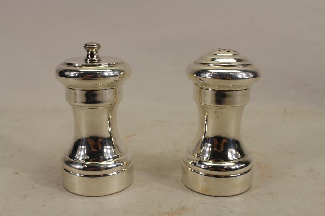 "Signed ""Cartier Sterling"" Salt/Pepper Shakers"