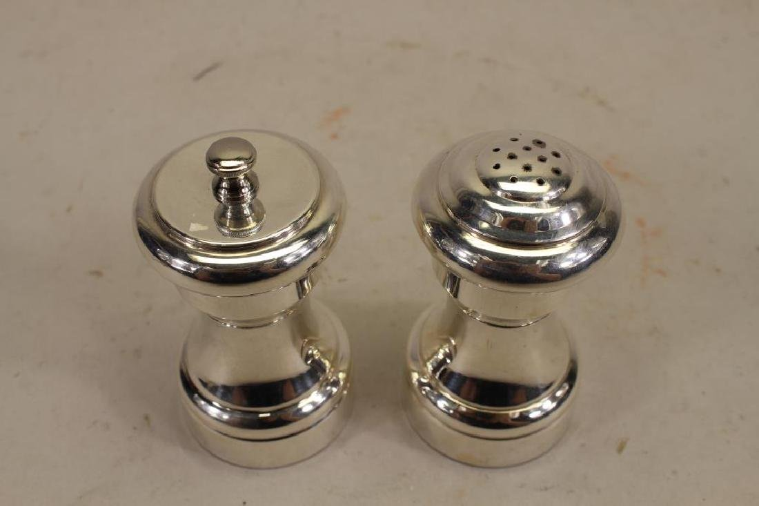 "Signed ""Cartier Sterling"" Salt/Pepper Shakers - 2"