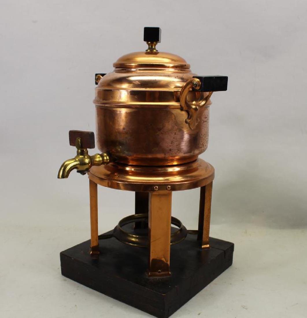 (2) Manning Bowman Samovars, (1) Copper Teapot - 2