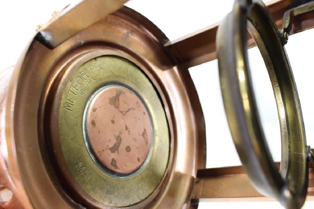 (2) Manning Bowman Samovars, (1) Copper Teapot - 3