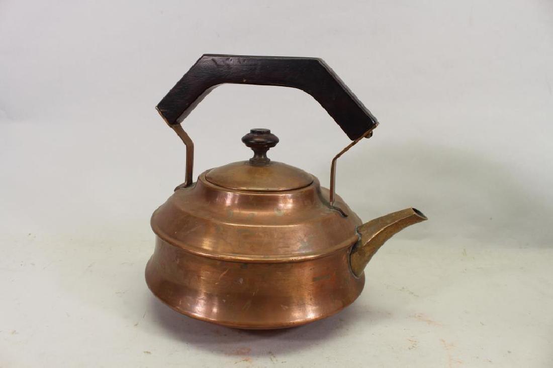 (2) Manning Bowman Samovars, (1) Copper Teapot - 4
