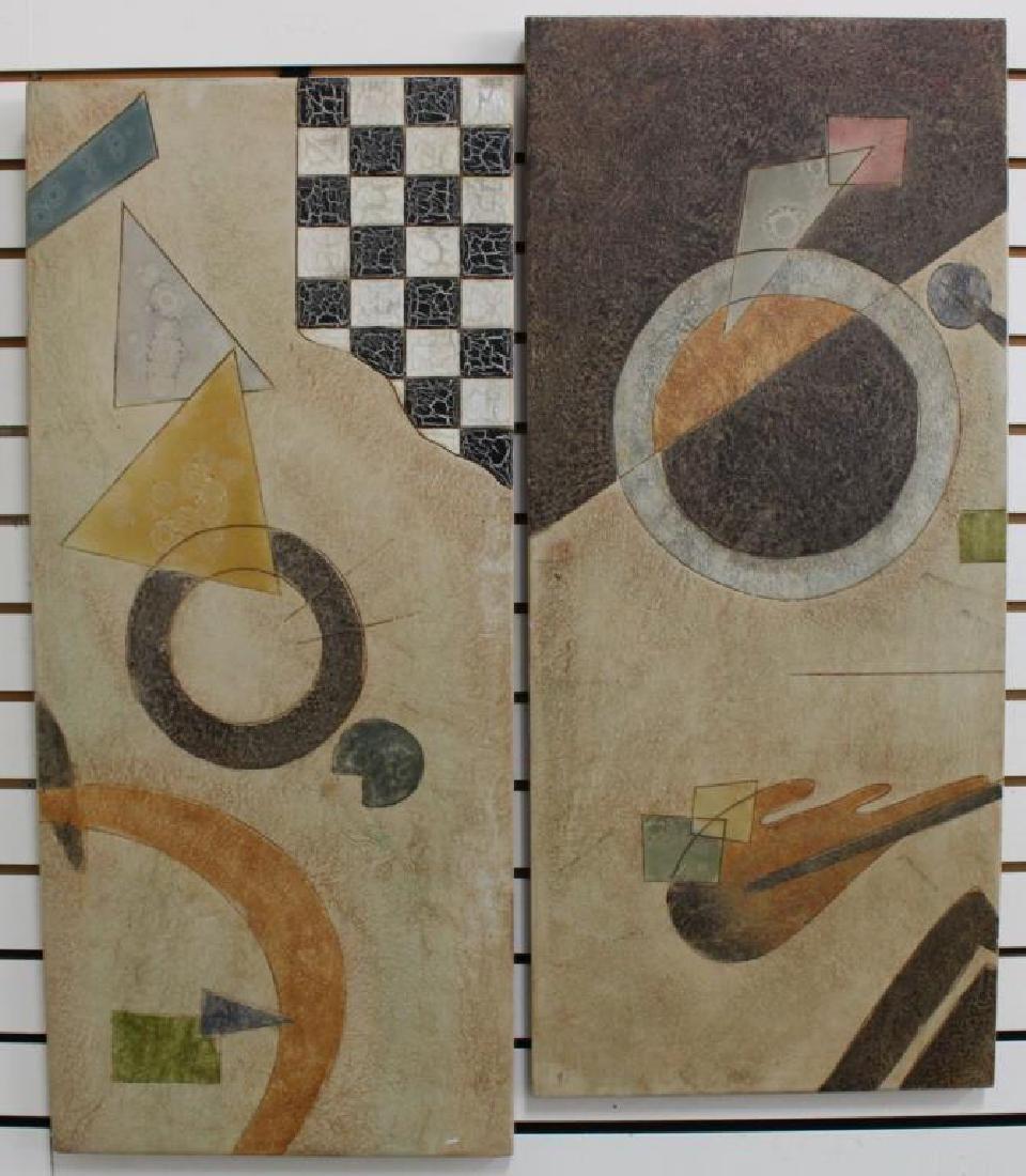 (2) Modernist Artworks on Panel