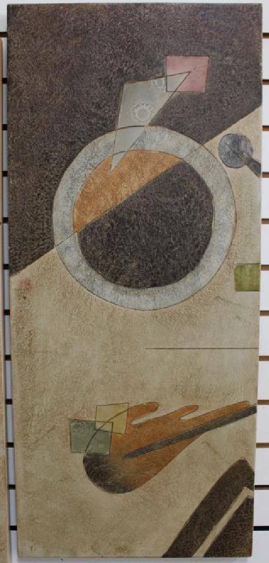 (2) Modernist Artworks on Panel - 3