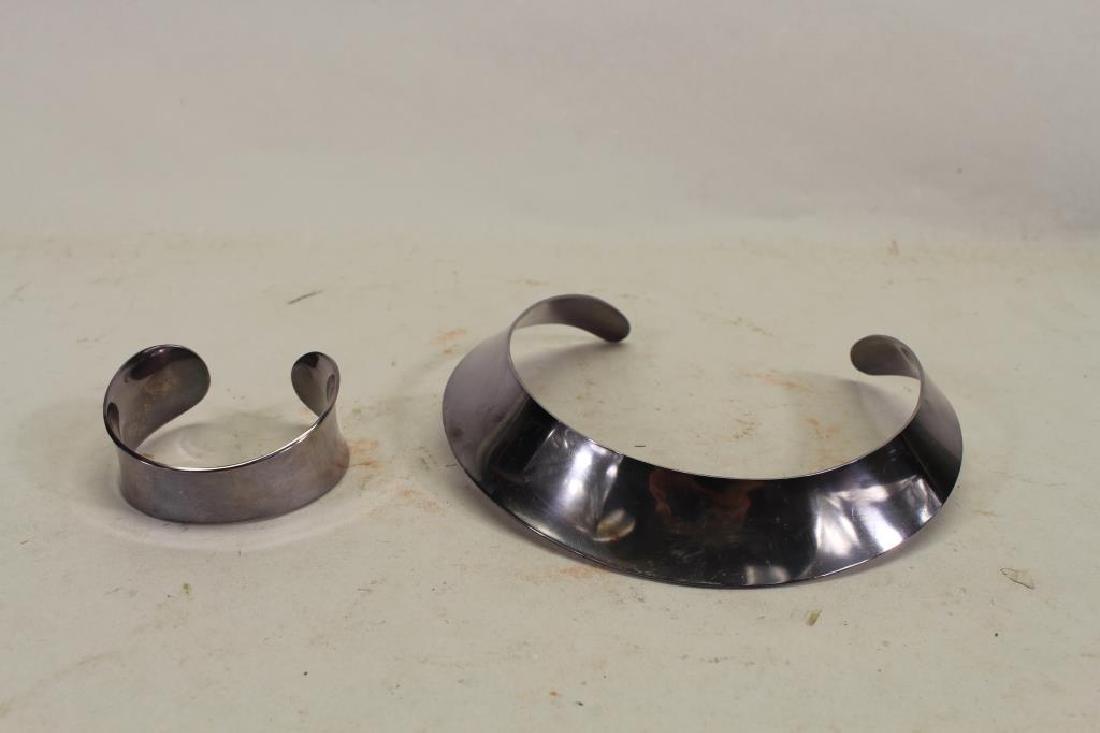 Signed Danish Modern Sterling Necklace & Bracelet