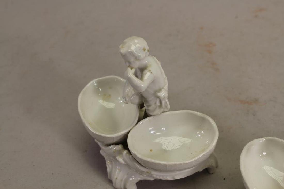 (2) French Porcelain Figural Open Salts - 3
