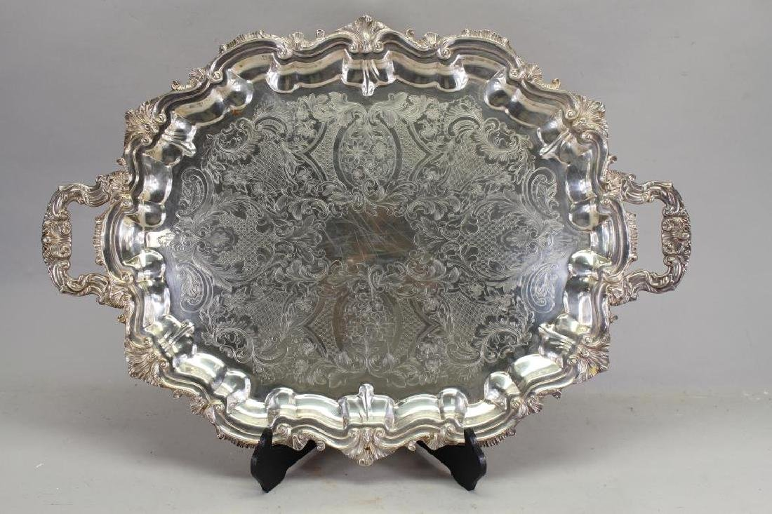 Silverplated Twin Handled Serving Tray