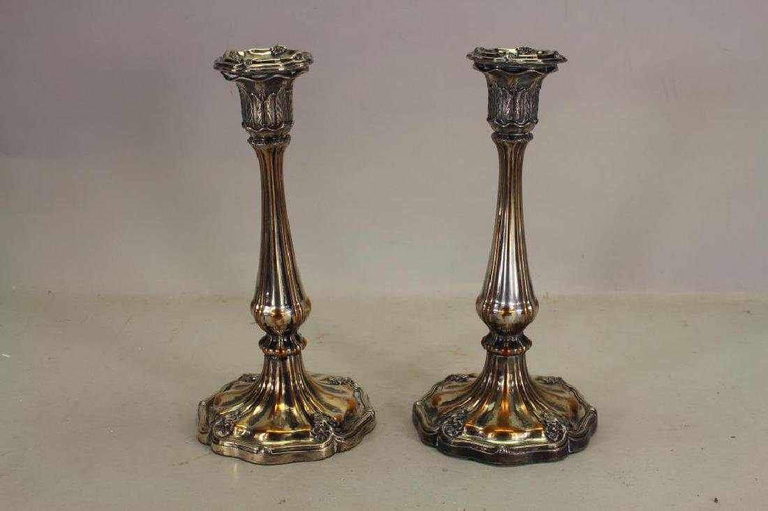 (2) Silverplate Candlesticks