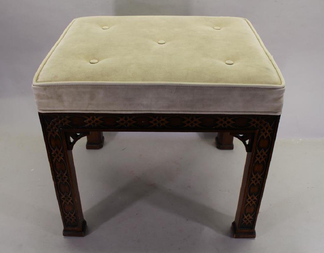 Contemporary Upholstered Footstool
