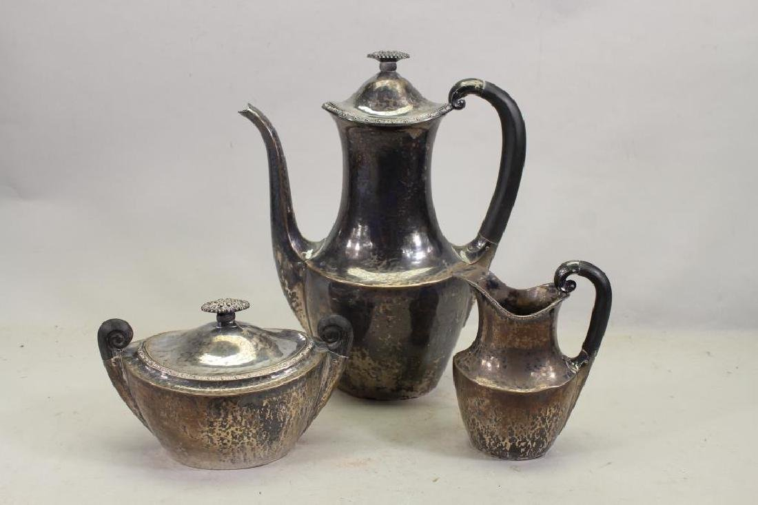 (3) Piece .830 European Silver Tea Set