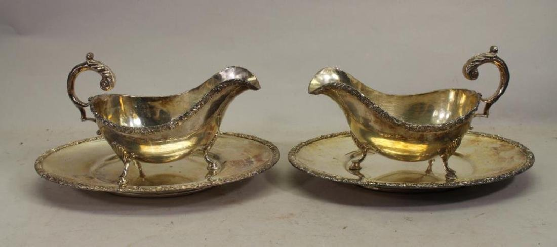 (2) Silverplate Creamers w/ Underplates